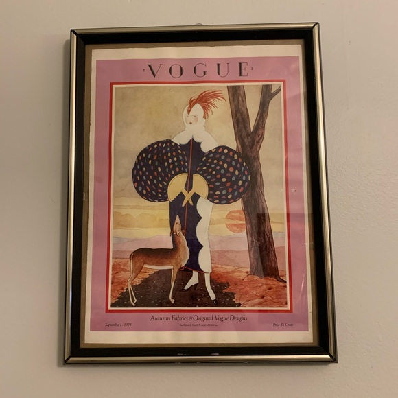 Vogue Other - Vintage Vogue Magazine Cover Poster September 1924